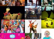 Collage of production images from Big Imaginations festival