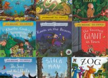 Collage of Julia Donaldson and Axel Scheffler book covers