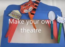 Picture of paper cut-out craft theatre for World Theatre Day