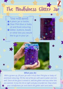 Make a mindfulness glitter jar